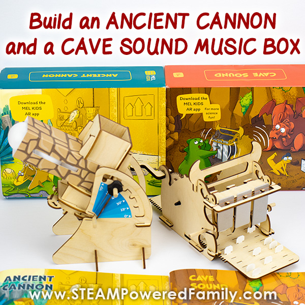 Build a Cannon and a Music Box with MEL Kids