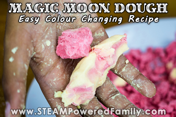 Moon Dough that changes colour as you play