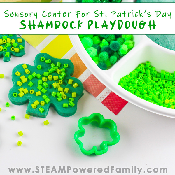 St. Patrick's Day Shamrock Playdough
