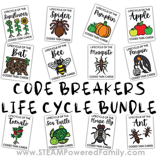 Code Breakers Life Cycle Worksheets