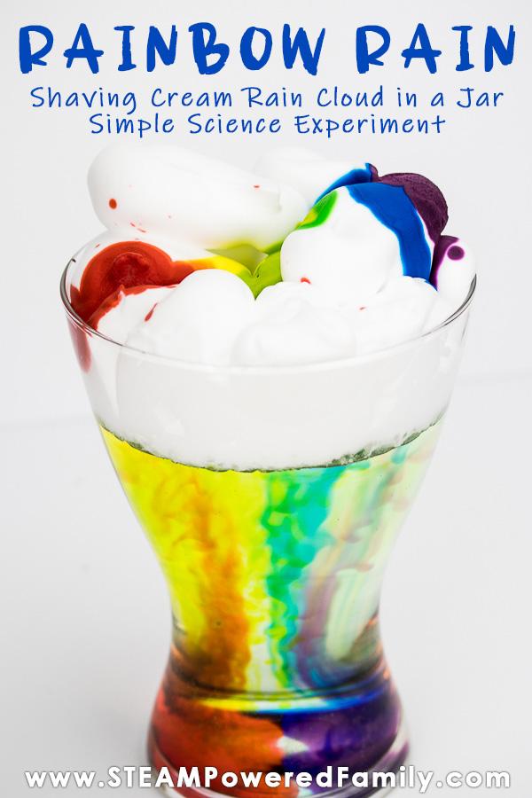Rainbow Rain Cloud In A Jar Experiment
