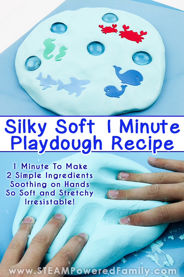 Silky Smooth 2 Ingredient Playdough Recipe, Ready in 1 minute