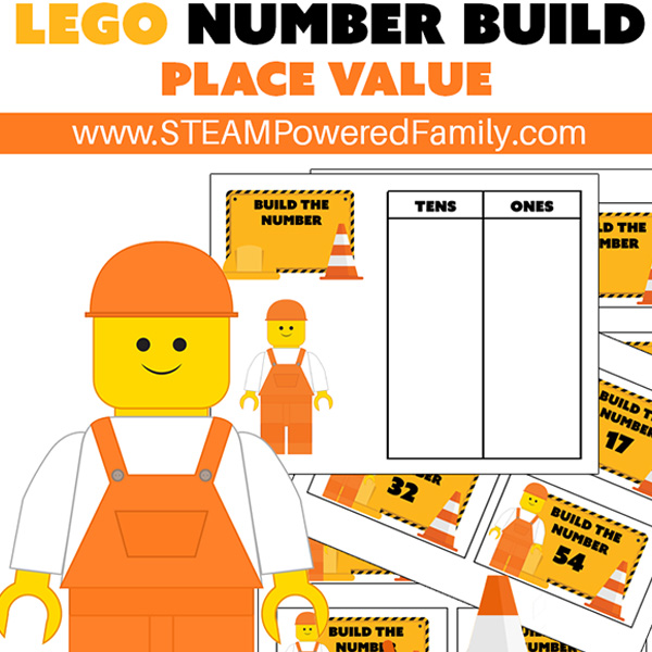 LEGO Build Challenge Math Printable