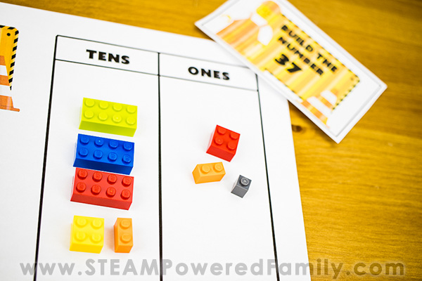 Lego Place Value Math Printable