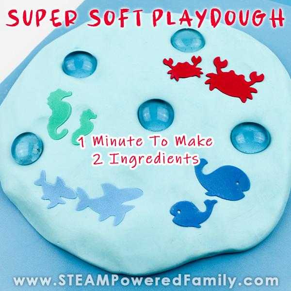 2 Ingredient Silky Smooth Playdough