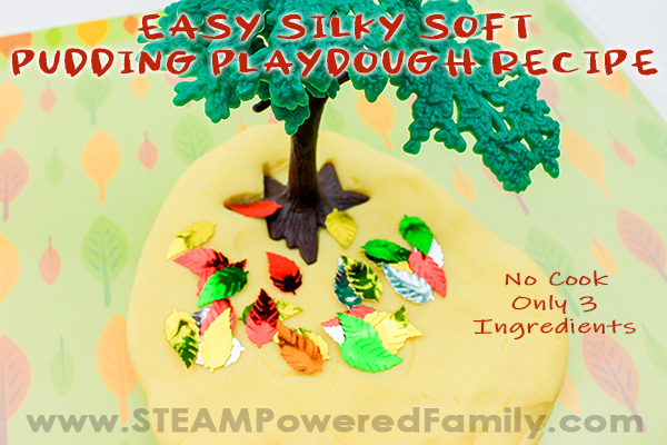 No Cook Pudding Playdough Recipe that is Silky Smooth