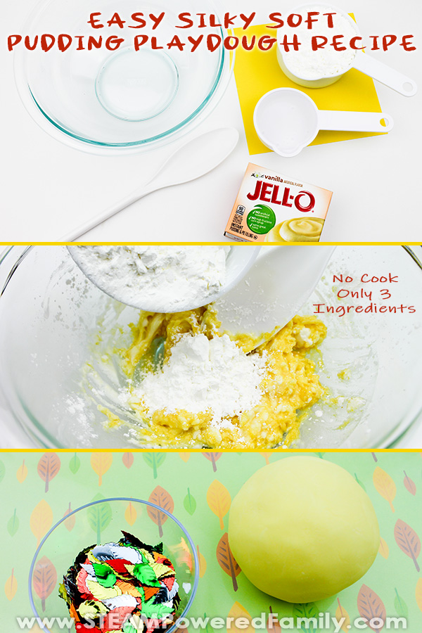 No Cook Pudding Playdough Recipe