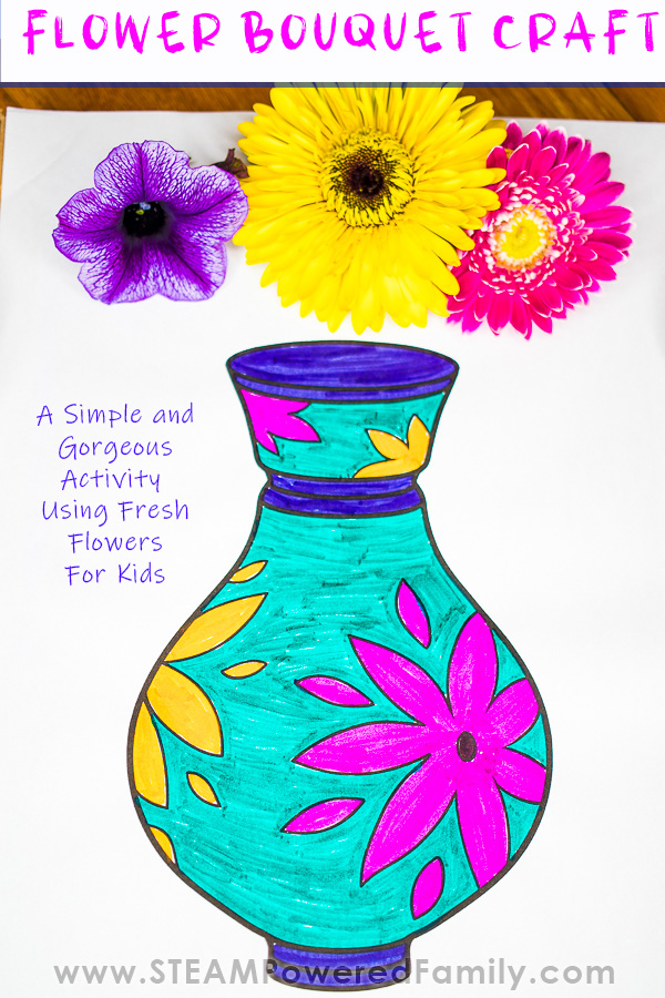 Stunning Fresh Flower Craft Project For Kids
