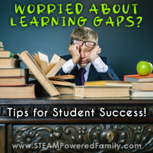 A confused student. Worried about learning gaps, tips for student success