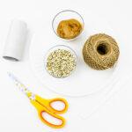 Supplies for Peanut Butter Bird Feeder
