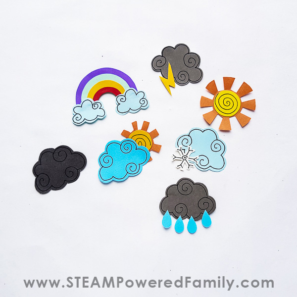 Homemade Craft Weather Icons