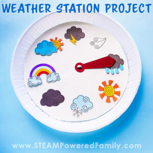 Weather Station Paper Plate Project for Kids