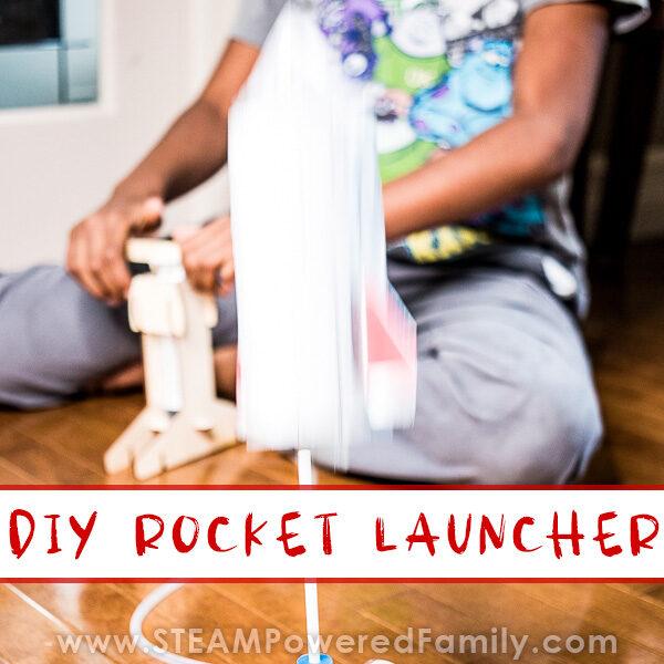 DIY Rocket Launcher blasting off!