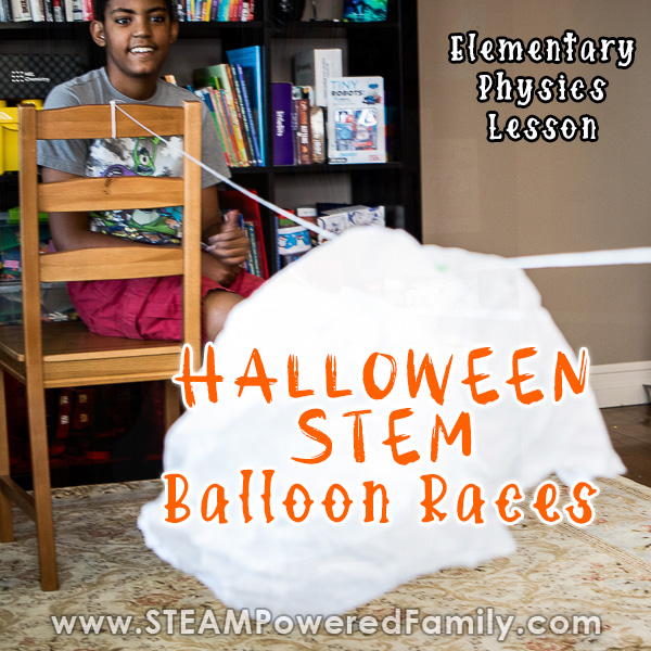 Halloween STEM Balloon Races Physics Challenge