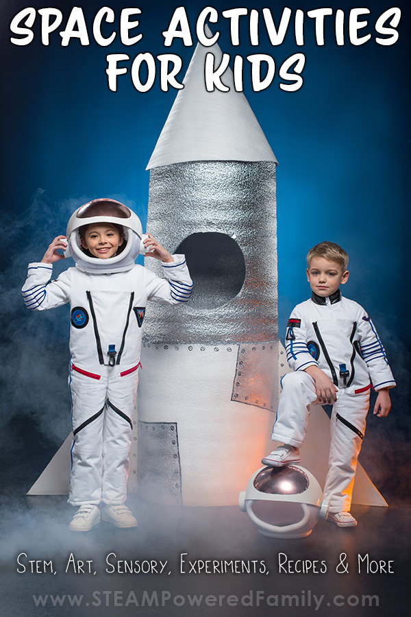 Out of this World Space Activities for Kids who dream of flying among the stars! STEM, experiments, lessons, sensory, recipes and more ideas.