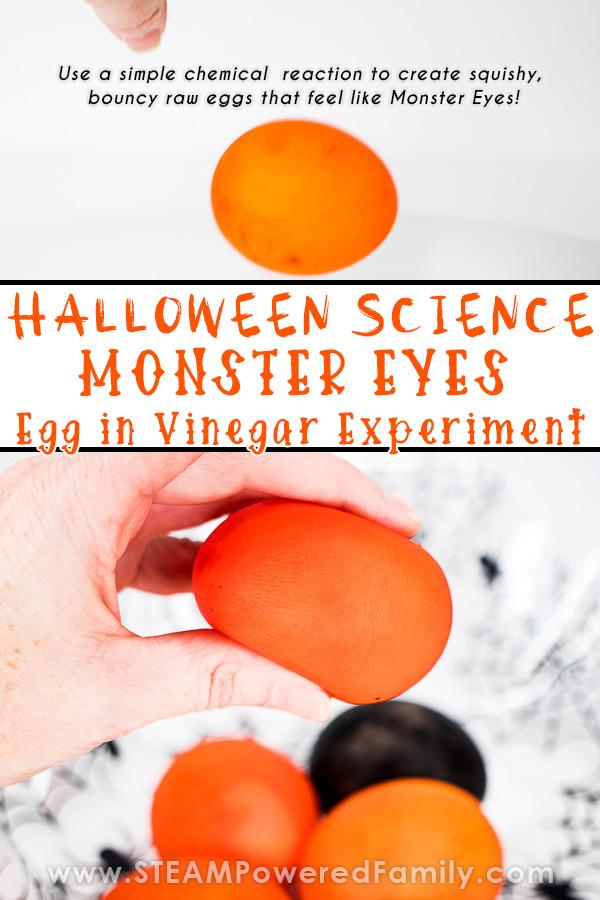 Monster Eyes Egg in Vinegar Bouncy Eggs