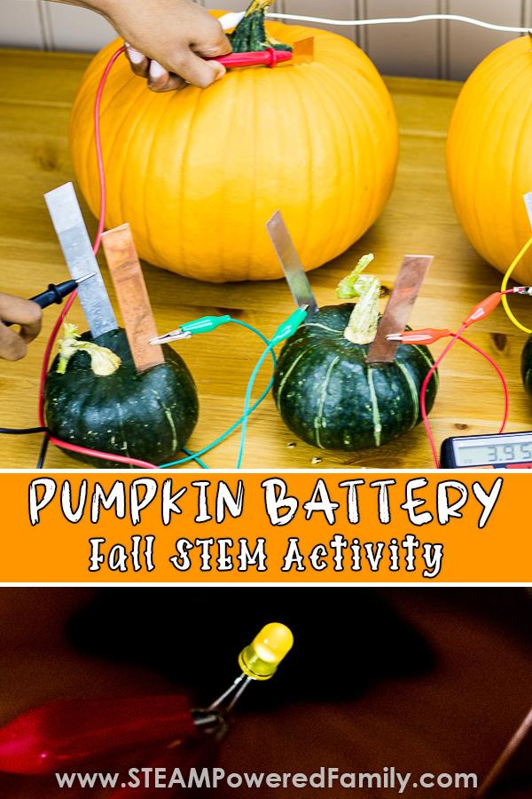 Build a Pumpkin Battery STEM Activity
