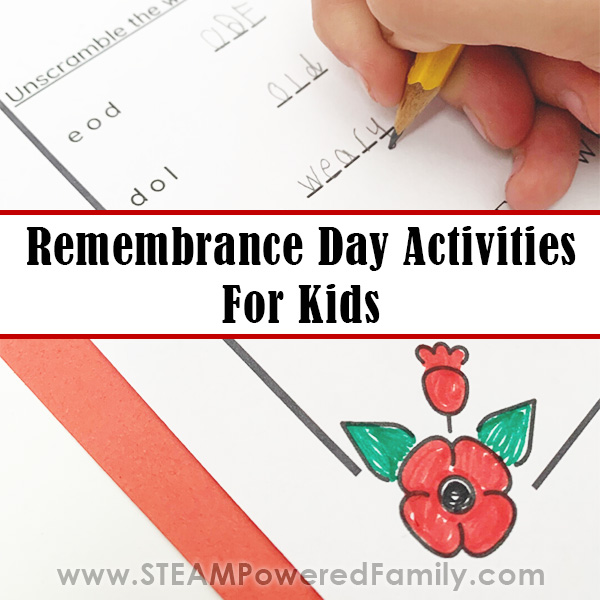 Remembrance Day Activities for Kids