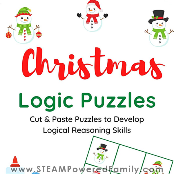 Christmas Math Logic Puzzle Game Printable