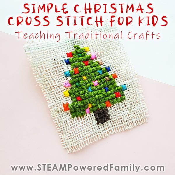 Christmas Cross Stitch for Kids