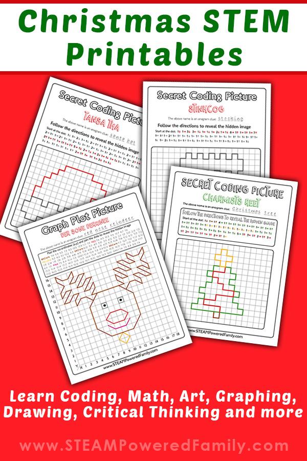 Christmas STEM Coding Printables
