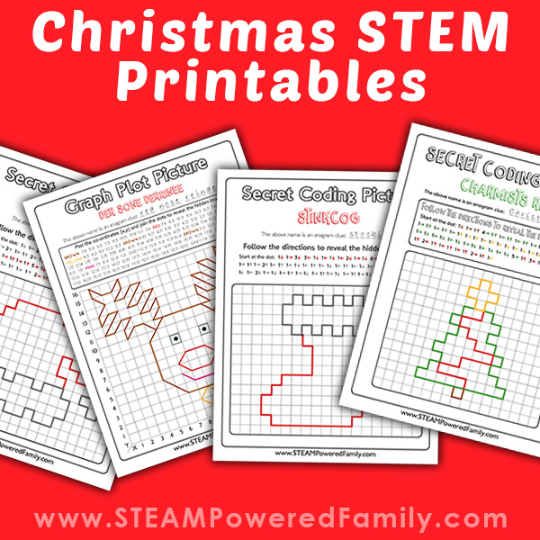 Christmas STEM Printables with Coding