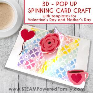 Pop Up Spinning 3D Card Craft