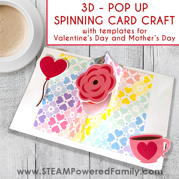 Pop Up Spinning 3D Card Craft