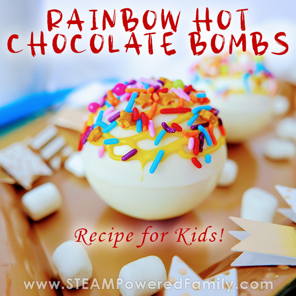 Rainbow Burst Hot Chocolate Bomb Recipe