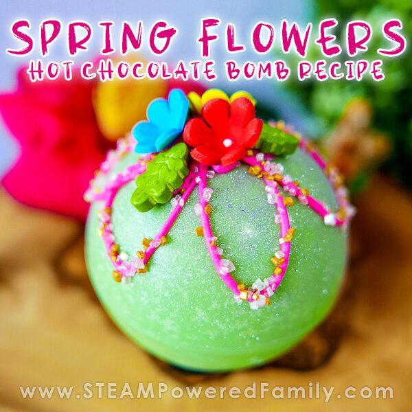 Spring Flowers Hot Chocolate Bomb Recipe