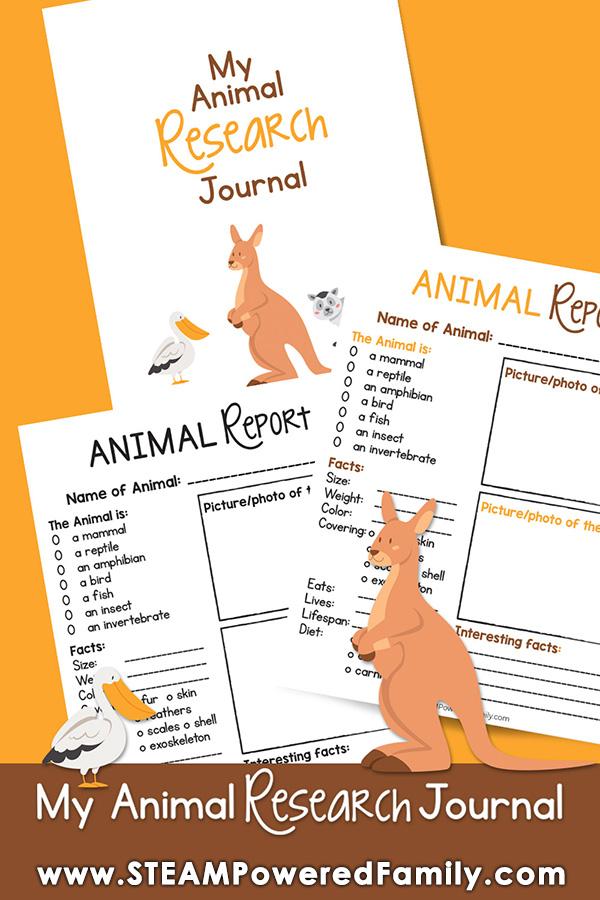 Animal Research Journal Printable