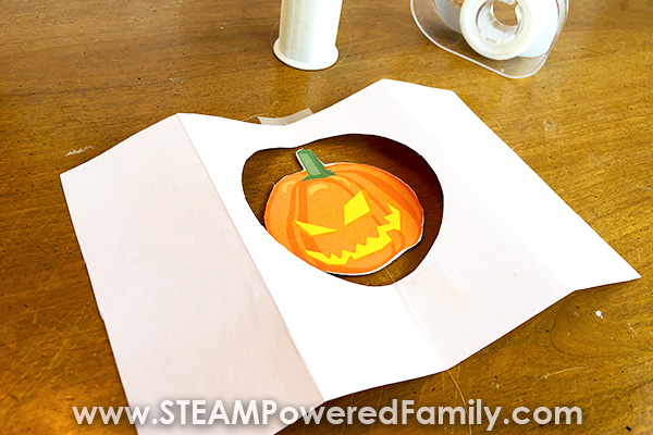 Halloween Spinning Card Assembly