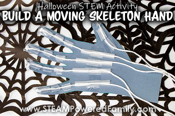 Halloween STEM Skeleton Hand