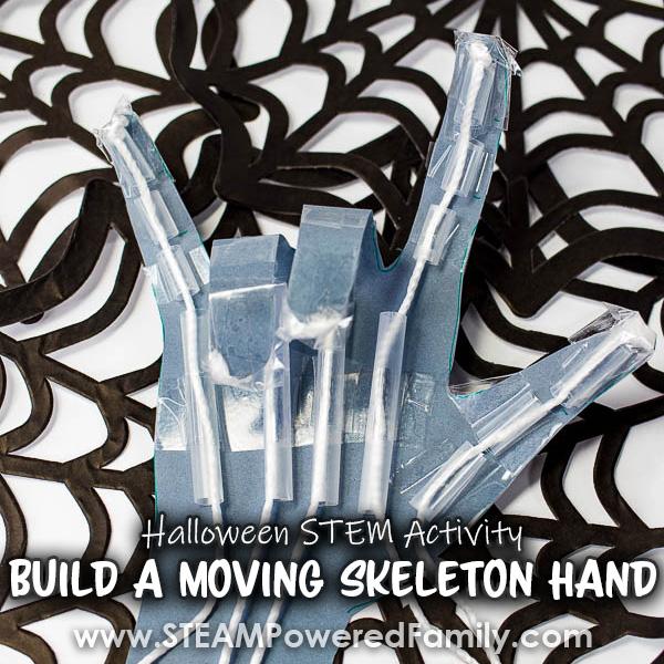 Skeleton Hand Halloween STEM Activity