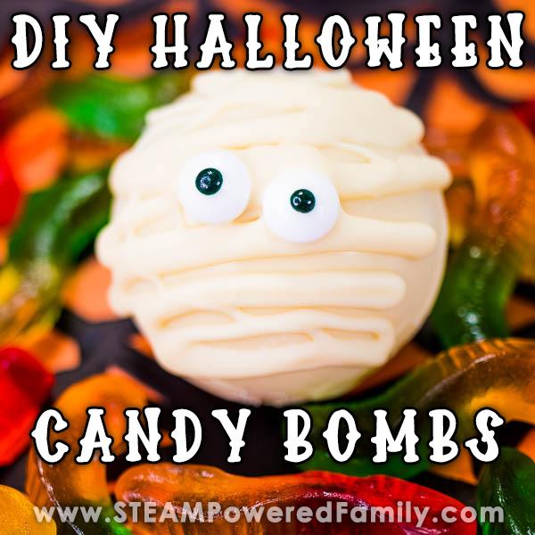 Homemade Halloween Candy Bombs