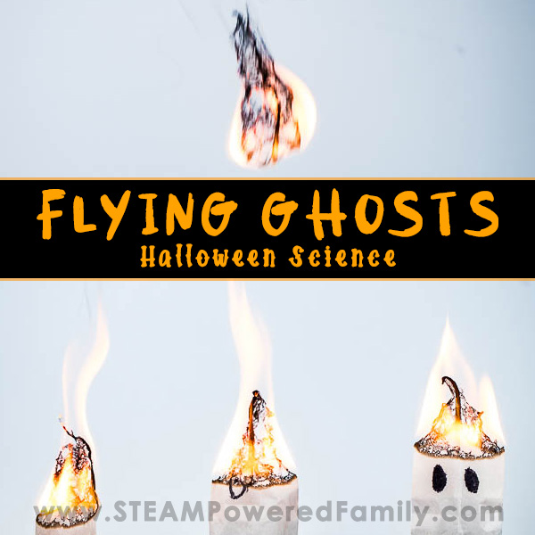 Flying Tea Bag Ghosts Halloween Science Experiment