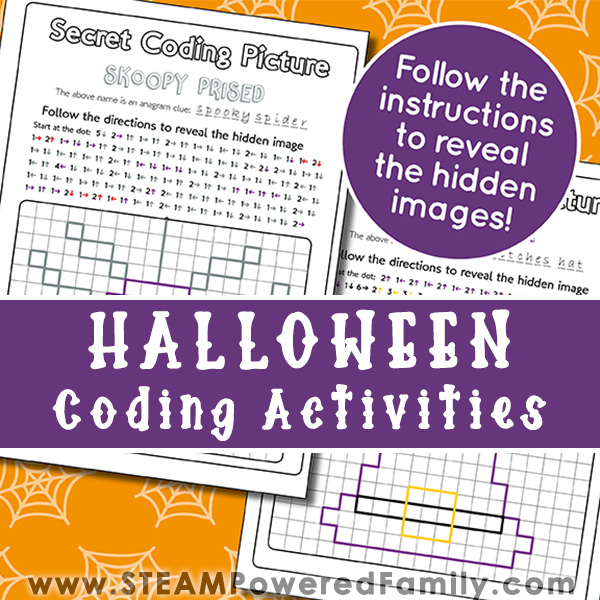 Halloween Coding Printable Activities