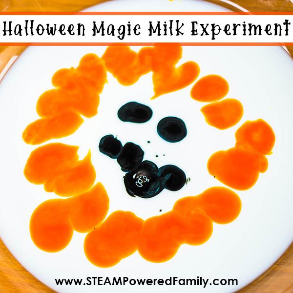 Halloween Magic Milk Experiment