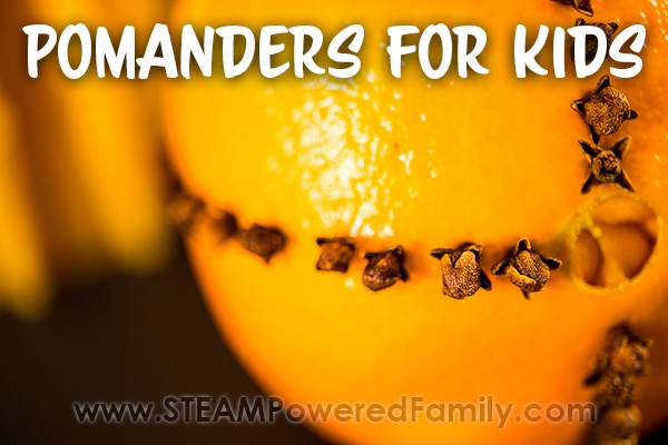 How to make Pomanders Close up of orange and cloves