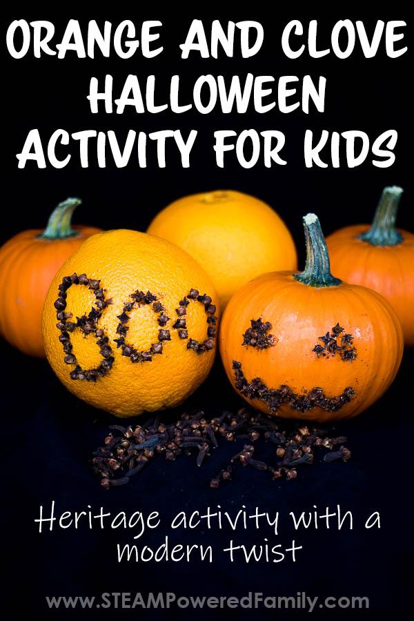 Pomander Orange Clove Project for Kids